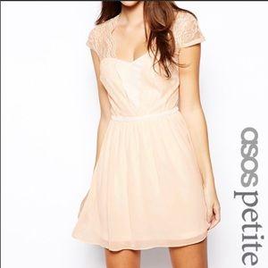 NWT ASOS petite light pink dress